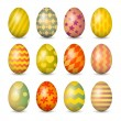 Easter eggs set. Colorful vector illustration. EPS 10 — Stock Vector