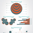 Infographics. Modern statistic infographics elements set. Vector — Stock Vector