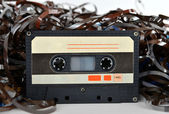 Audio cassette and tape composition — Stock Photo