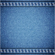 Jeans background. Vector texture. Fabric textile design. — Vetor de Stock  #30352475