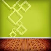 Prázdná místnost, vnitřní s tapetou. vysoké rozlišení textur bac — Stock fotografie