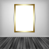 Blank empty white frame — Foto Stock