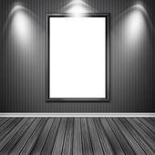 Blank empty white frame — Stockfoto
