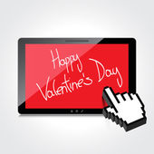 Valentine day web, modern concept. High-quality tablet screen. — Stock Vector