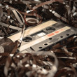 Cassette and tape background — Stock Photo #39587489