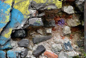 Grunge brick wall. Messy old urban background. — Stock Photo
