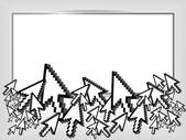 Reklamní prostor s kurzory myši. vektorové ilustrace — Stock vektor