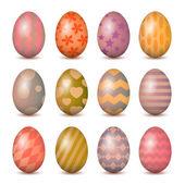 Easter eggs set. Colorful vector illustration. EPS 10 — Stock Vector