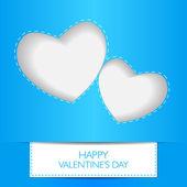 カード幸せなバレンタインの日のコンセプトが大好きです。ハート形の影. — ストックベクタ