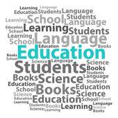 Text cloud. Education wordcloud. Tag concept. Vector illustratio — Vecteur