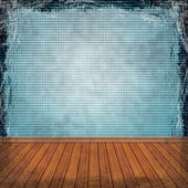 Blue grunge background. Abstract vintage texture with fra — Stock Photo