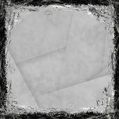 Gris, fondo blanco grunge. textura abstracto vintage con fra — Foto de Stock