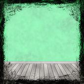 зеленый гранж-фон. аннотация винтаж текстуры с рамой и — Стоковое фото