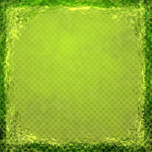 Green grunge background. Abstract vintage texture with frame and — Stock Photo