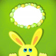 Easter bunny look up in blank space. Easter background. — Stock Photo #45800399