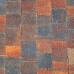 The fragment of sidewalk pavement brick pattern on promenade — Stock Photo #45802489