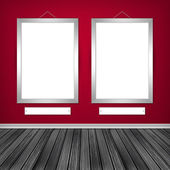 Two empty frames on a wall  — Stock Photo