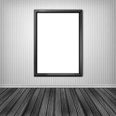Blank empty white frame — Stock Photo