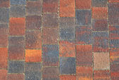The fragment of sidewalk pavement brick pattern on promenade — Stock Photo