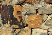 Consistenza e superficie della parete di pietra. — Foto Stock