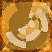 Fondo naranja grunge. Resumen textura vintage con el marco de una — Foto de Stock