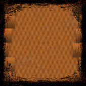 Orange grunge background. Abstract vintage texture with frame an — Stock Photo