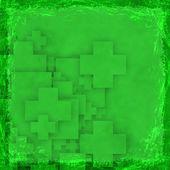 Zelené grunge pozadí. abstraktní vinobraní textury s rámem a — Stock fotografie
