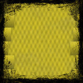 Yellow grunge background. Old abstract vintage texture with frame and border. — Stock Photo