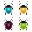 Beetles set — Stock Vector