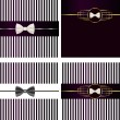 Striped backgrounds with bow tie — Stock Vector #40655905