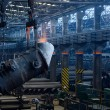 Iron and steel plant,workshop,Panorama — Stock Photo