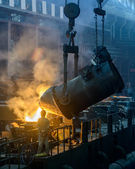 Iron and steel plant vertical composition — Stock Photo