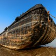 Stock Photo: Old boat stopped at shore