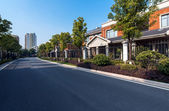 Residential area road — Stock Photo