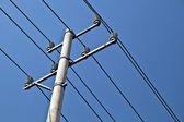 电力线杆 electric power the mast — Stock Photo