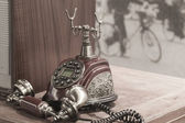 European Style telephone set — Стоковое фото