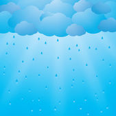 Background with clouds and rain — Stock Vector