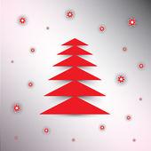 Christmas tree background, — Stock Vector