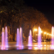 Stock Photo: Colored water fountain at night. Ukraine. Kharkov. Gorky Park.