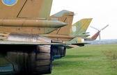 Jets svansar bak. — Stockfoto