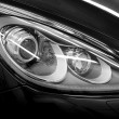 Closeup headlights. — Stock Photo