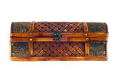 Old wooden casket. — Stock Photo