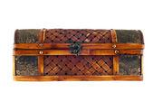 Velho caixão de madeira. — Fotografia Stock
