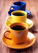 Colorful coffee cups. — Stock Photo