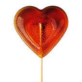 Sugar heart on a stick. — Stock Photo