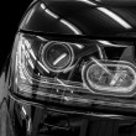 Closeup headlights of car. — Stock Photo #45876793