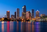Downtown Tampa Florida Skyline at Night — Stock Photo