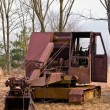 Old Time Heavy Equipment Coal Mining Shovel — Stok fotoğraf