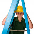 Royalty-Free Stock Photo: Young boy - future construction worker