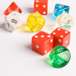 Multicolored Role Play Dice — Stock Photo #23258352